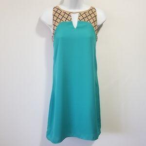 4/$20 THML Sleeveless Keyhole Shift Dress XS
